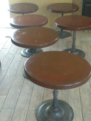 "Solid wood Restaurant,bar,coffee shop Tables 30""  w Round with artistic base."