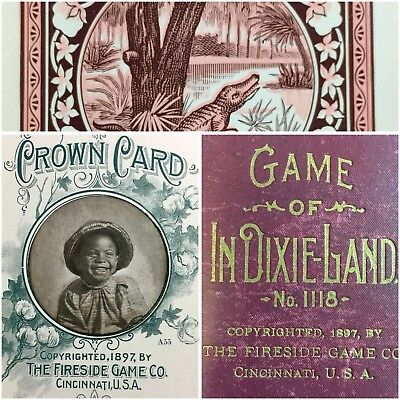 Historic Museum Grade Black Child Americana Antique Game Photo Playing Cards