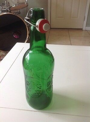 "Grolsch Beer Oversize Swing Top Tip Bottle 13.5"" Tall Highly Collectible Rare"