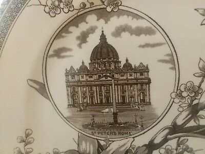 WALLIS GIMSON & CO. 'THE WORLD ' c 1884 9.75 In. PLATE