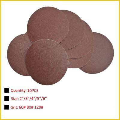 2-6 inch P60 P80 P120 Self Adhesive Sand Disc For Hook&Loop Polishing Pad 10pcs
