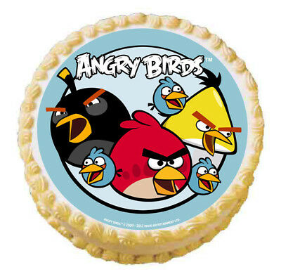 Angry Birds Round Edible Image Icing Sheet Cake Topper