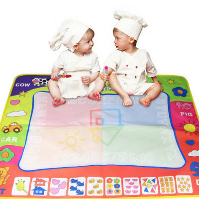 Doodle Mat Board With 2 Water Drawing Pens for Toddler Kids Educational Toy AU