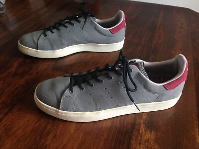 best loved a6fc1 4a14f Adidas Skateboarding Stan Smith Vulc Gray and Burgundy Wine Men s Size 10