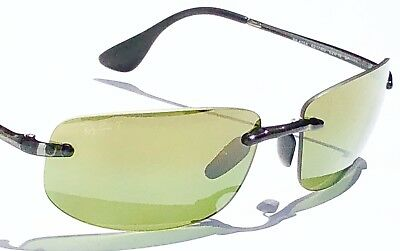 5ba4ae593f NEW  Ray Ban Rimless Chromace POLARIZED Green G-15 Lens Sunglass RB 4254