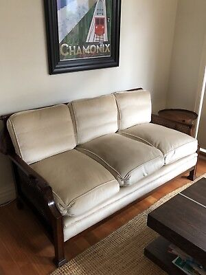 Antique wooden lounge suite. 3 seater, 2 seater and armchair. Good condition