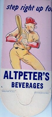 Altpeters Beverages Soda Pop Bottle Topper with A Baseball Player