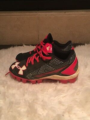 f3913c323b6 Youth Under Armour Leadoff Boys BASEBALL CLEATS Shoes Size 12K 12 KIDS EUC