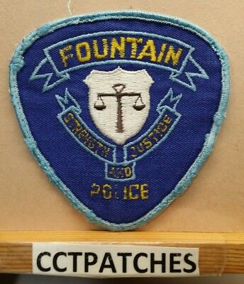 Fountain, Colorado Police Shoulder Patch Co