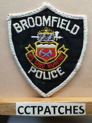 Broomfield, Colorado Police Shoulder Patch Co