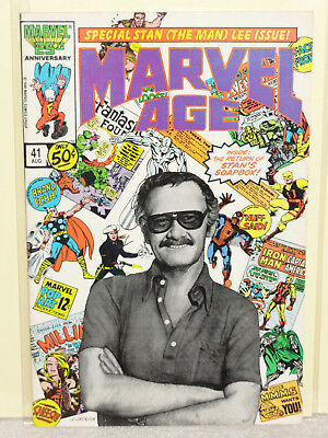 Marvel Comics MARVEL AGE # 41 STAN LEE COVER FRED HEMBECK F/VF 1986