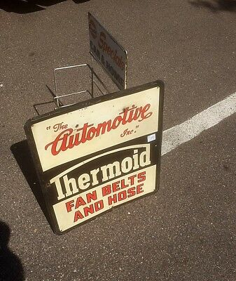 Vintage Automotive Thermoid Fan Belts Display Metal Sign Gasoline Oil Gas 20x18