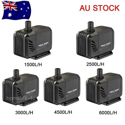 Aqua Submersible Water Pump Aquarium Pond Marine Fish Tank Waterfall Fountain
