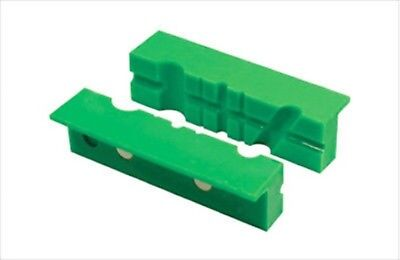 """4"""" Plastic Soft Face Jaw Pipe Pads for Metal Vise with V Round Grooves for Wire"""