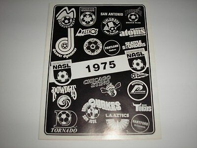 1975 Fold Out Poster And Info. For The North Atlantic Soccer League, Good Cond.