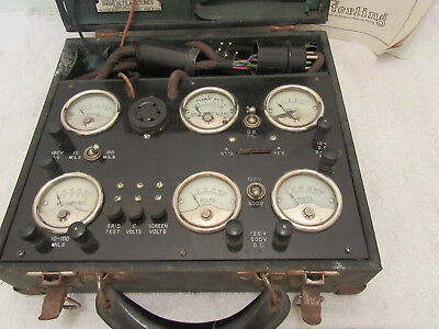 Antique Sterling R-522 Portable Tester MADE IN USA Cleveland OH w/ Case & Manual