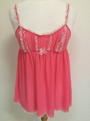 Victoria's Secret Sheer Lace Women's Intimate Camisole Size M