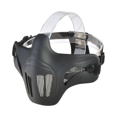 Airsoft Steel Wire Mesh Half Face Mask Tactical Paintball Hunting Protection