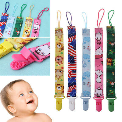 Baby Ribbon Dummy Clips Soother Pacifier Chain Nipple Holder For Infant Feeding