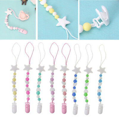 Baby Pacifier Chain Silicone Beads Dummy Clip Holder Soother Chain for Baby Chew