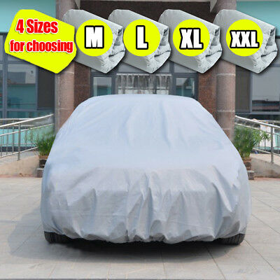 Universal Full Car Cover Outdoor Indoor Waterproof Weather UV Rain Dust Proof