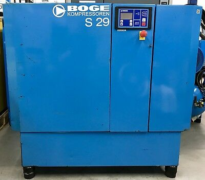 Boge S29 Rotary Screw Compressor, 22Kw, 122Cfm Perfect Order! Fully Servied!