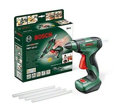 Bosch PKP 3.6 LI Cordless Glue Gun with Integrated 3.6 V Lithium-Ion Battery