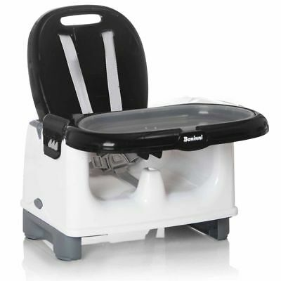 Baninni Booster Seat Yami Black Baby Safety Feeding Dining Chair BNDT005-BK