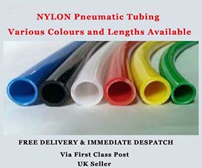 1 Metre 4mm x 2.5mm Nylon Flexible Plastic Pipe Tubing Compressed Airline ...