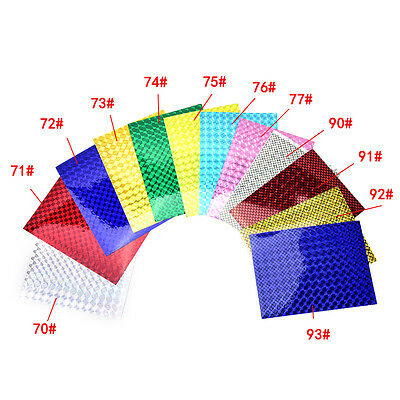 4PCS 10cm X 20cm Holographic Adhesive Film Flash Tape For Lure Making FlyZY