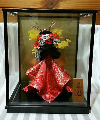 Vintage RARE Japanese Wedding Wig With Plaque and  Display Case