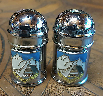 "Vintage Rare ""mt. Ruapehu, Nz"" Salt & Pepper Set, Part Of 60 Years Collections"