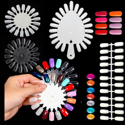 False Nail Tips Color Card Buckle Ring Manicure Nail Art Practice Display Tools