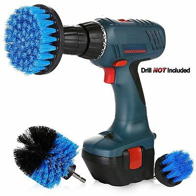 3Pcs/Set Tile Grout Power Scrubber Cleaning Drill Brush Tub Cleaner Combo HOT US