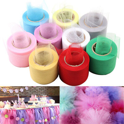"2""x 25YD DIY Tulle Spool Roll  Netting Craft Fabric Wedding Party Decoration"