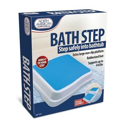 Bath Step Stool Stack-Able Safety Aid Disability Non Slip Shower Step
