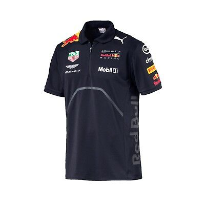 Aston Martin Red Bull Racing PUMA - Herren Team Polo Shirt - Formel 1 - 2018  *