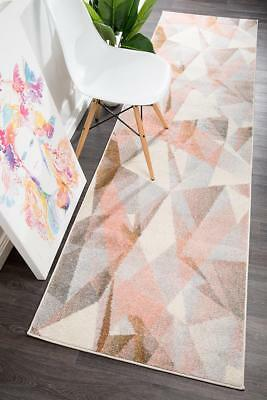 Hallway Runner Hall Rug Modern Mat Carpet Blush 3, 4 Metres Long FREE DELIVERY