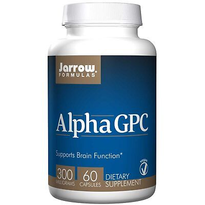 🔴 Alpha GPC 300 mg 60 Vegan Caps by Jarrow Formulas Protects Brain Function