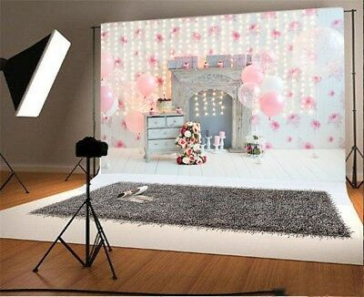 Sweety Baby Girl 1st Birthday Party Photography Background 7x5ft Lights Backdrop