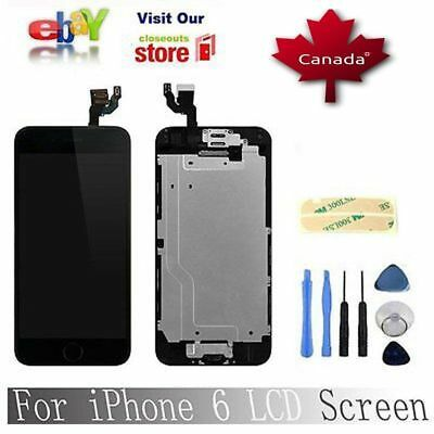 """Black Digitizer screen Replacement With Home Button& Camera for iPhone6 4.7"""""""