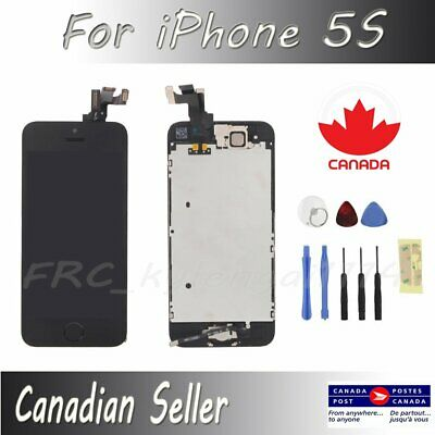 For iPhone Black 5S Full LCD Display Touch Screen Digitizer Assembly Replacement