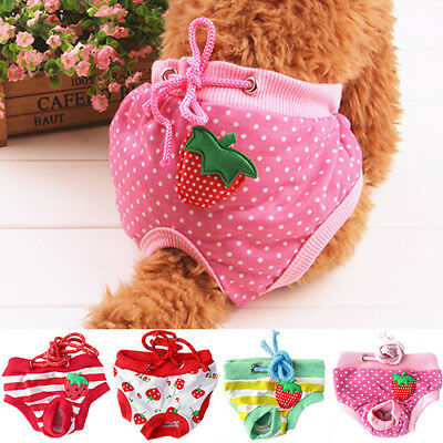Female Pet Dog Puppy Diaper Pants Physiological Sanitary Nappy Underwear Nice