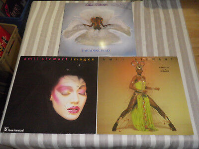"AMII STEWART: Imagine/ Paradise Bird/ Knock On Wood, LOT WITH 3 LP`S/ 12"", MINT"