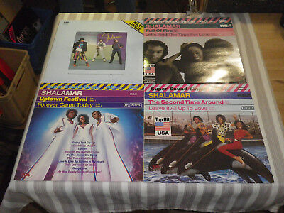 "SHALAMAR: Full Of Fire/ Uptown Festival etc., LOT WITH 4 MAXIS/ 12""   *MINT* :-)"