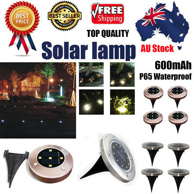 4pcs Solar Power Buried Light Ground With 10 LED Lamp Outdoor Path Garden Deckin