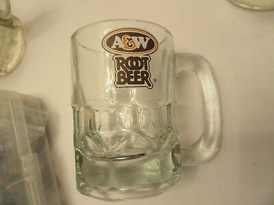 """1 Canadian A&W Soda Glass Mug Stein Cup Vintage Root Beer Glasses A & W 4 1/4"""""""