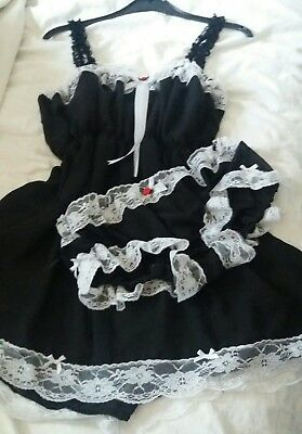 ❤New Design❤ Black Chiffon Shortie Nightie & Matching Panties  ❤ Sissy Maid Cd