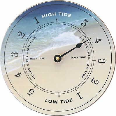 Tide Clock, High/Low Tide - Assorted designs, beach, yacht, flag, moon, buoy etc