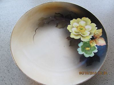 """Vtg Shabby Cottage Romantic Chic Noritake Japan Hand Painted Plate Floral 7 5/8"""""""